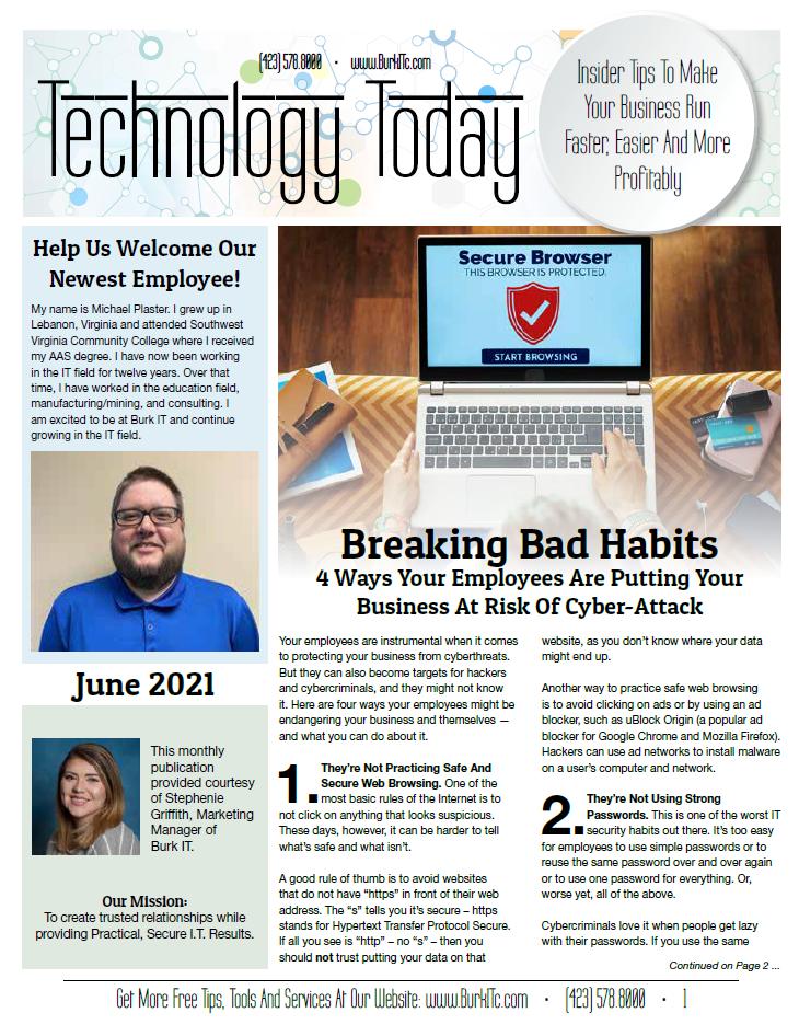 June 2021 newsletter