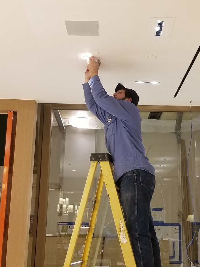 Tory Burch Light Fixture Installation