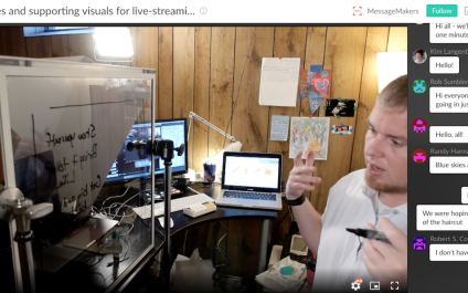 Slides and Supporting Visuals for Live Streaming Video