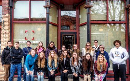 Pewamo-Westphalia High School Visits MessageMakers!
