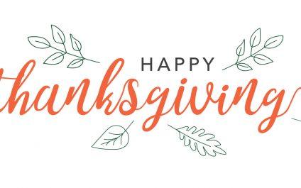 Thanksgiving Closing