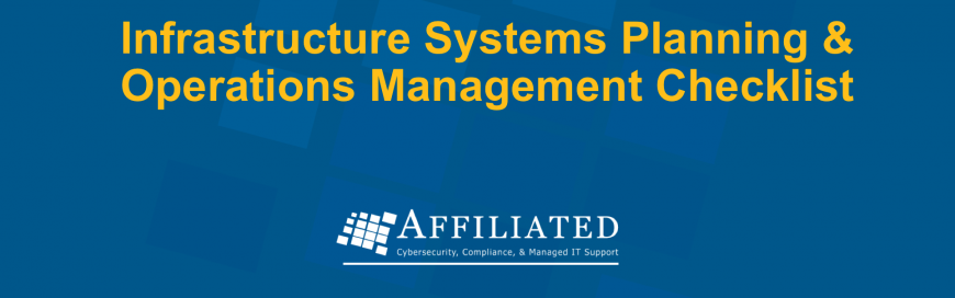 Infrastructure Systems Planning & Operations Management Checklist