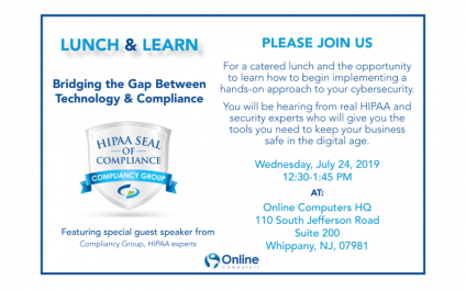 July Lunch & Learn: Bridging the Gap Between HIPAA and Technology
