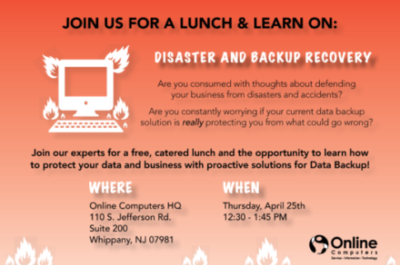 April Lunch & Learn: Disaster and Backup Recovery