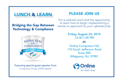 August Lunch & Learn: Bridging the Gap Between HIPAA and Technology