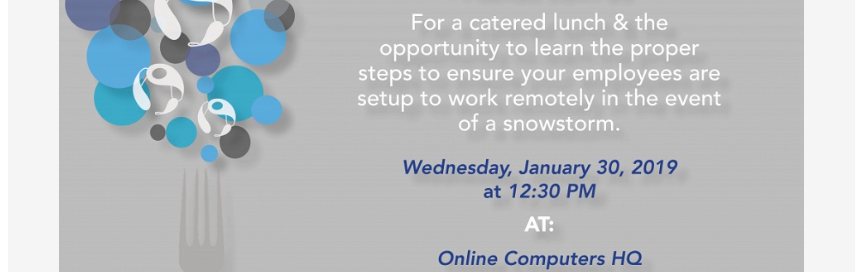 January Lunch & Learn: How to Work From Home During a Snow Storm