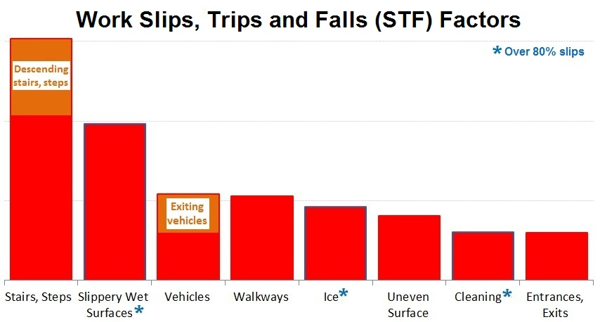 Factors in Slips, Trips and Falls on the Same Level