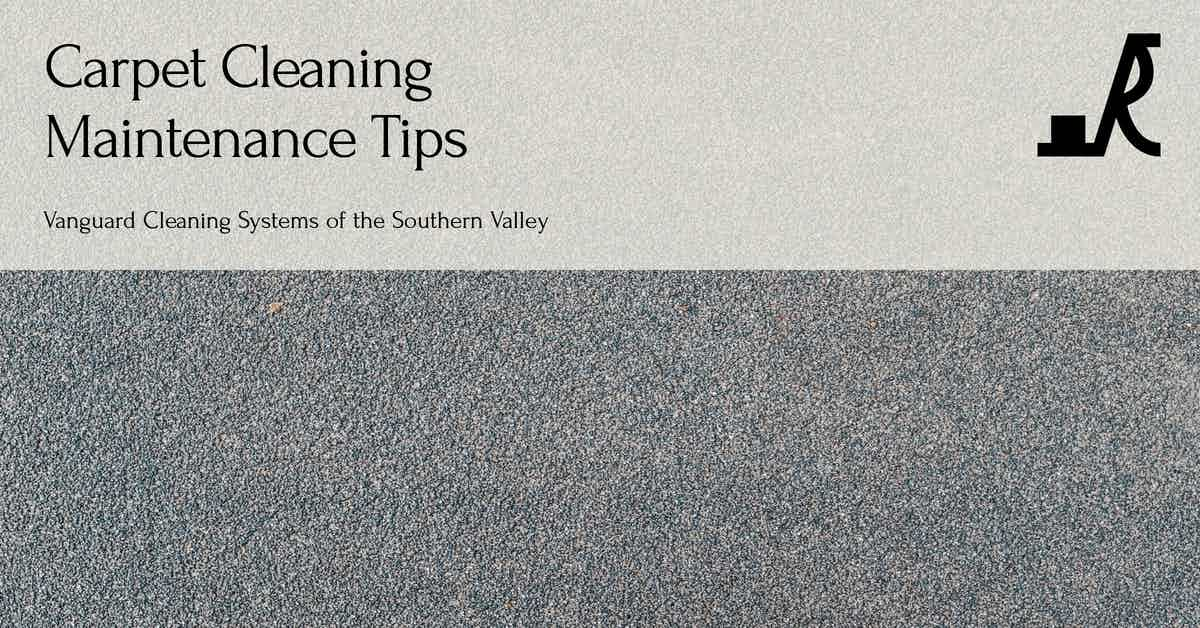 Carpet Cleaning Maintenance Tips