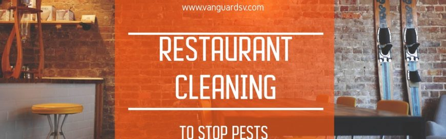 Restaurant Cleaning to Stop Pests