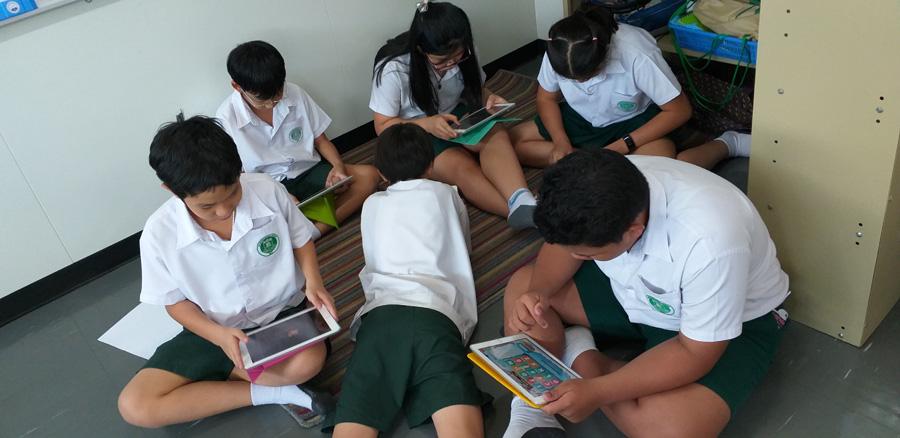 Grade 6 Explorers Practicing for Word Mania Contest