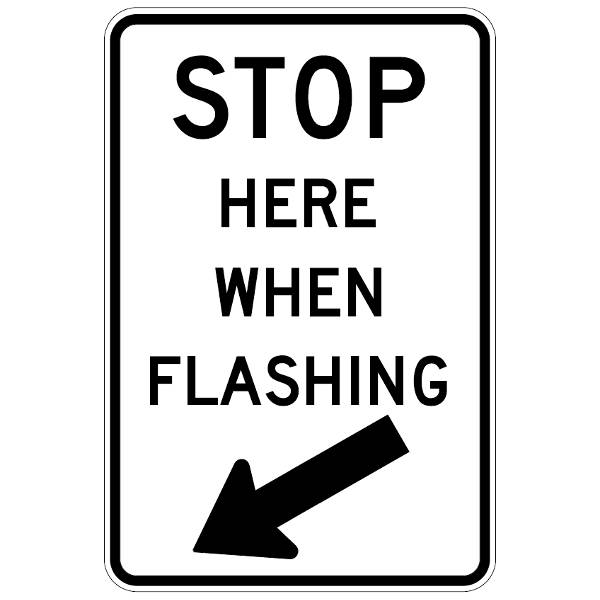 signage-stop here when flahing