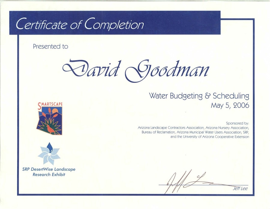 Water-Budgeting-Certificate