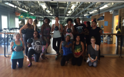 Danialle Karmanos' WORK IT OUT volunteers come to EQ to WORK IT OUT!