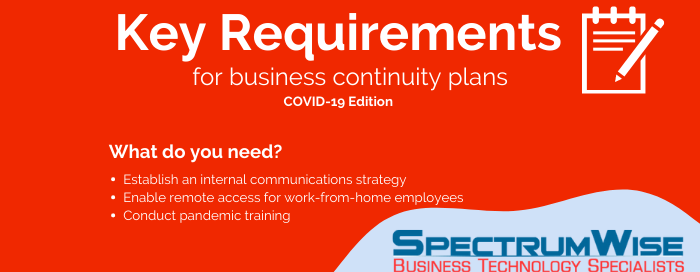 COVID-19: Key requirements for business continuity plans (BCPs)