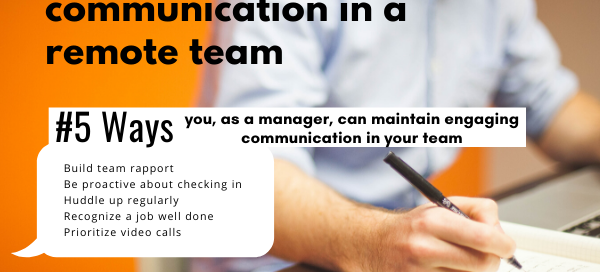 Remote working: Maintaining team communication