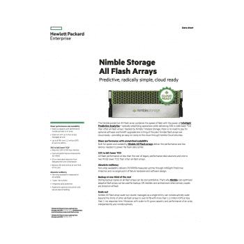 HPE Nimble Storage All-Flash Array