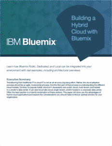 Building a Hybrid Cloud with Bluemix