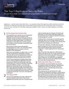 The Top 5 Application Security Risks