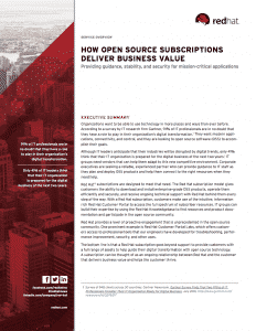 How open source subscriptions deliver business value