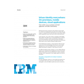 Cloud Identity Connect Solutions Brief