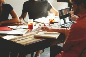 team meeting consultant partner client relationship