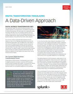 Digital Transformation Trailblazing: A Data-Driven Approach