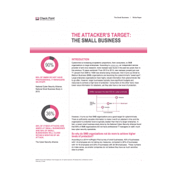 The Attacker's Target : The Small Business