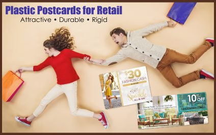 Why retailers should take advantage of plastic postcards