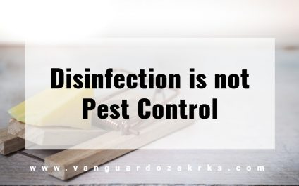 Disinfection is not Pest Control