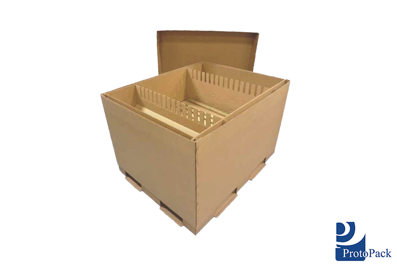 Corrugated Shipping Packs with Integrated Pallets