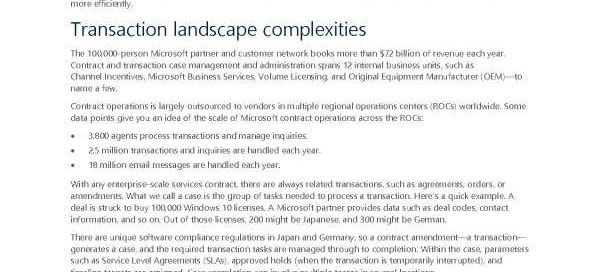 Dynamics 365 automates complex transactions and business processes