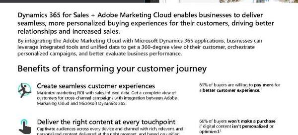 Transform the customer journey with Dynamics 365 for Sales + Adobe Marketing Cloud
