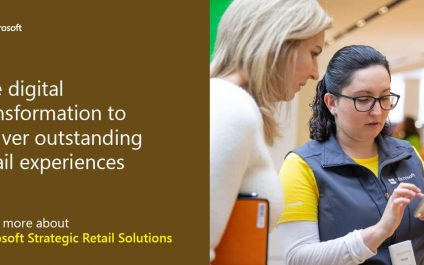 Use digital transformation to deliver outstanding retail experiences. Learn more about Microsoft Strategic Retail Solutions.