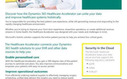 Microsoft Dynamics 365 Healthcare Accelerator: Unlocking rapid progress with unified data