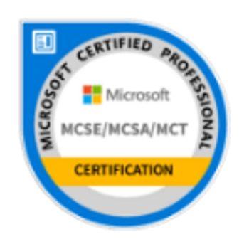 Microsoft MCSE, MCSA, MCT