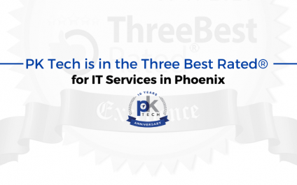 PK Tech is in the Three Best Rated® for IT Services in Phoenix