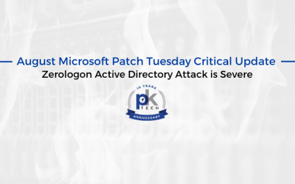 August Microsoft Patch Tuesday Critical Update – Zerologon Active Directory Attack is Severe