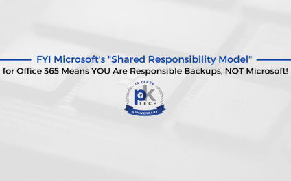 """FYI Microsoft's """"Shared Responsibility Model"""" for Office 365 Means YOU Are Responsible Backups, NOT Microsoft!"""