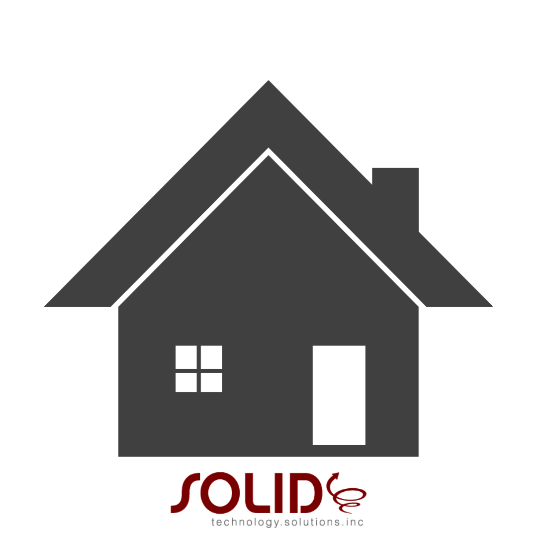 house above solid technology solutions logo