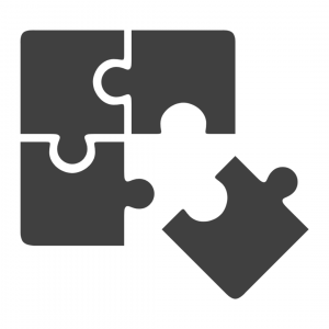 puzzle pieces depicting web application development