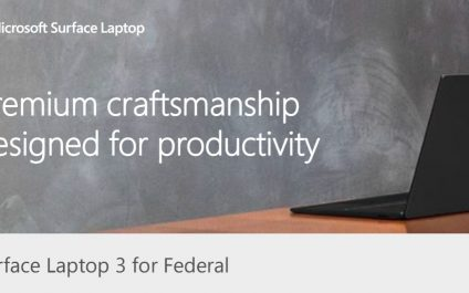 Surface Laptop 3 for Federal