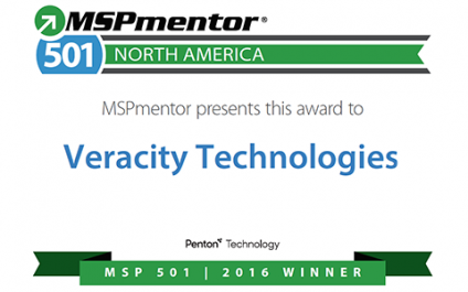Veracity Technologies Ranked Among Top 501 Managed Service Providers by Penton Technology's MSPmentor