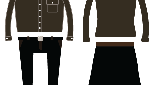 การจับคู่ชุดสีสุภาพ ในกรณีไม่มีเสื้อดำ หรือเสื้อดำหมด