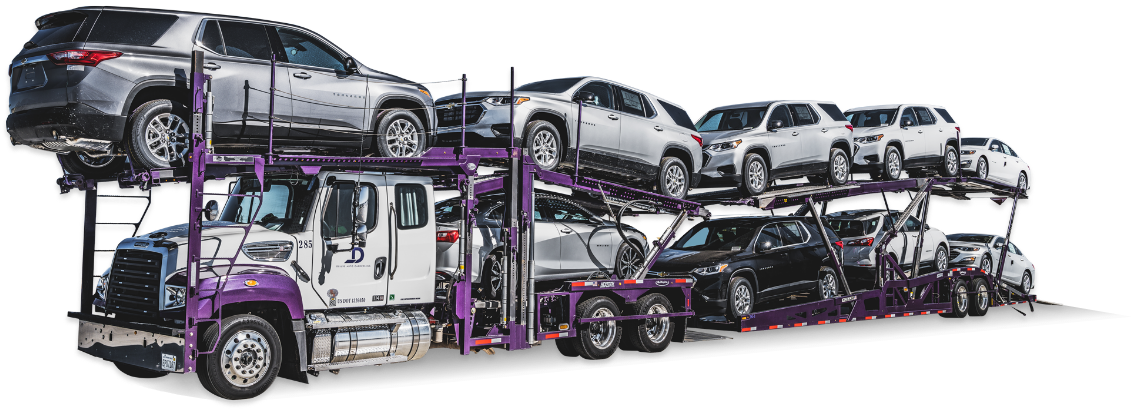 Auto carriers are carrying a bunch of cars