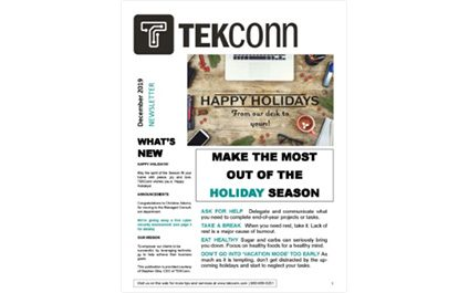 MAKE THE MOST OUT OF THE HOLIDAY SEASON – December 2019