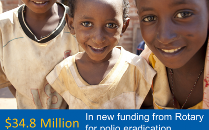 Rotary announces $34.8 million in funding to fight polio in Africa and Asia