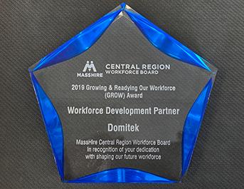 Domitek wins the Workforce Development Partner Award 2019