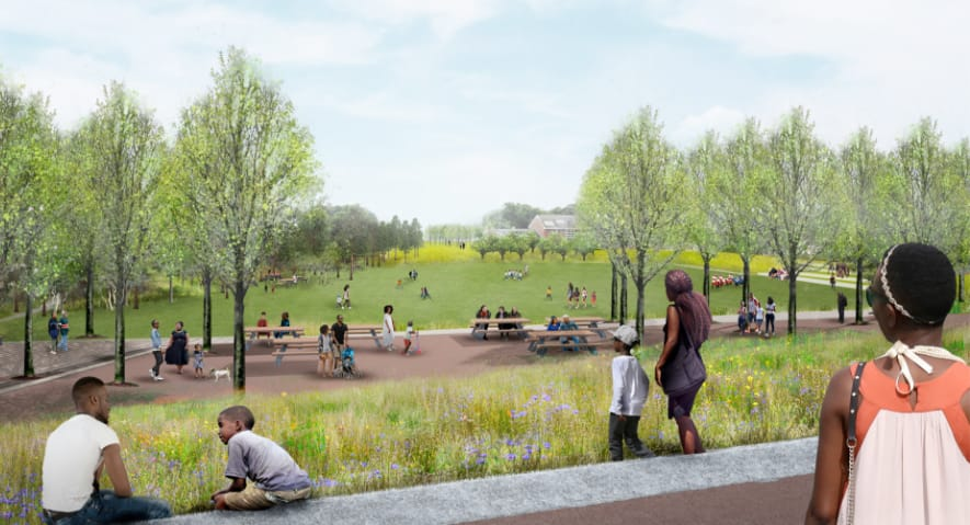 The resilience park by Ohio Creek Watershed Project