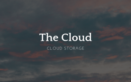 How can I store data in the cloud?