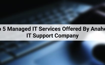 Top 5 Managed IT Services Offered By Anaheim IT Support Company